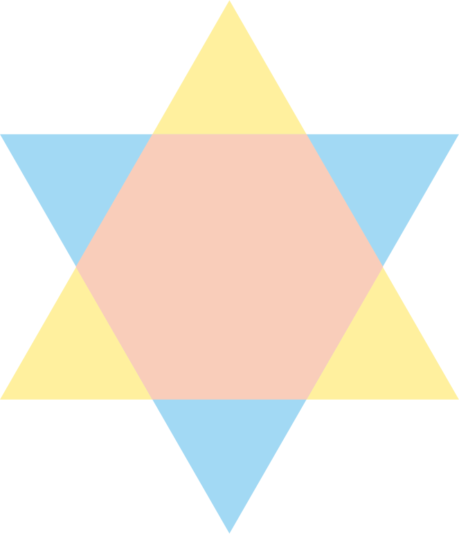 Triplicity symbolized in the colors of the three aspect rays