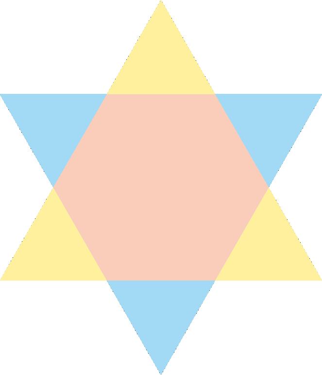Tripliciteit gesymboliseerd in de kleuren van de drie aspectstralen